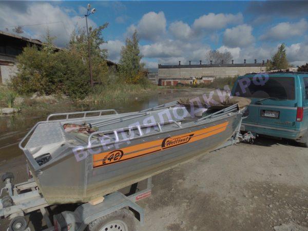 Wellboat-42 / Вельбот-42. Тент ходовой на тройные дуги 14