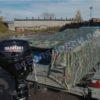 Воронеж. Транспортировочный тент на стекло с калиткой. 10