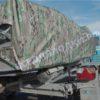 Воронеж. Транспортировочный тент на стекло с калиткой. 12