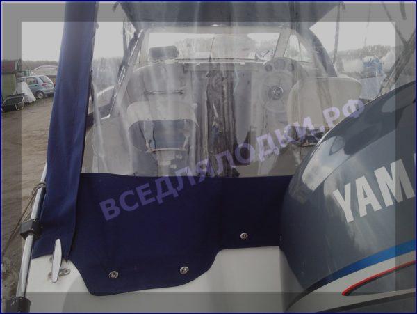 Корвет 600 ВА. Corvet 600 WA. Тент ходовой, высокий, на тройные дуги. 1