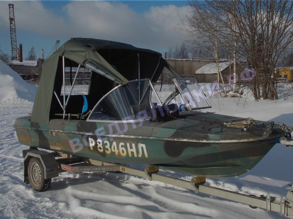 Стекло и тент для лодки Обь-3 1