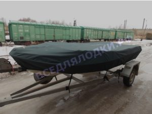 Тент стояночный, транспортровочный на мотолодку Nissamaran Laker 410 / Ниссамаран Лакер 410.