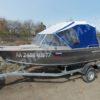 Windboat-42MPro / Виндбот-42МПро. Тент для стекла с калиткой. 37