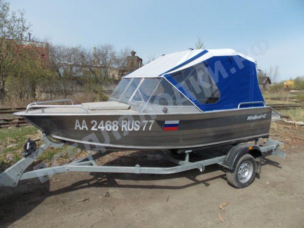 Windboat-42MPro / Виндбот-42МПро. Тент для стекла с калиткой. 2
