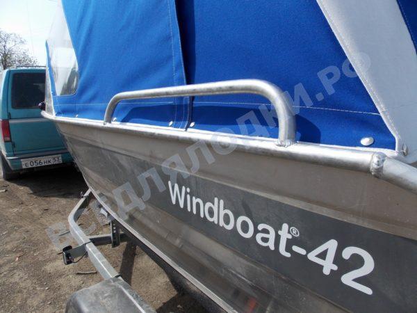 Windboat-42MPro / Виндбот-42МПро. Тент для стекла с калиткой. 7