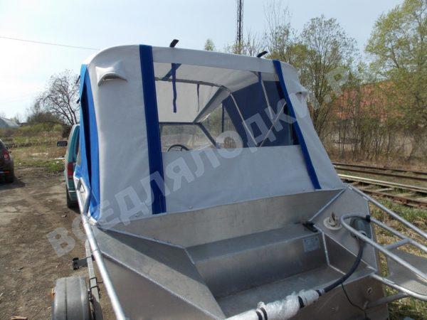 Windboat-42MPro / Виндбот-42МПро. Тент для стекла с калиткой. 9