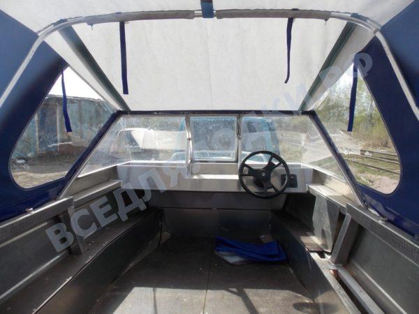 Windboat-42MPro / Виндбот-42МПро. Тент для стекла с калиткой. 11
