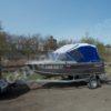 Windboat-42MPro / Виндбот-42МПро. Тент для стекла с калиткой. 48