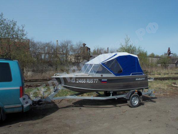 Windboat-42MPro / Виндбот-42МПро. Тент для стекла с калиткой. 13
