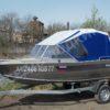 Windboat-42MPro / Виндбот-42МПро. Тент для стекла с калиткой. 49