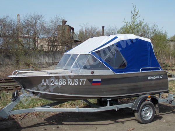 Windboat-42MPro / Виндбот-42МПро. Тент для стекла с калиткой. 14