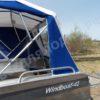 Windboat-42MPro / Виндбот-42МПро. Тент для стекла с калиткой. 50
