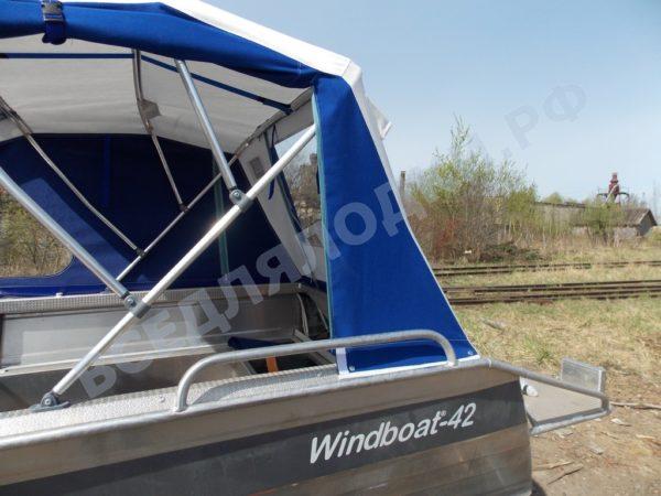 Windboat-42MPro / Виндбот-42МПро. Тент для стекла с калиткой. 15