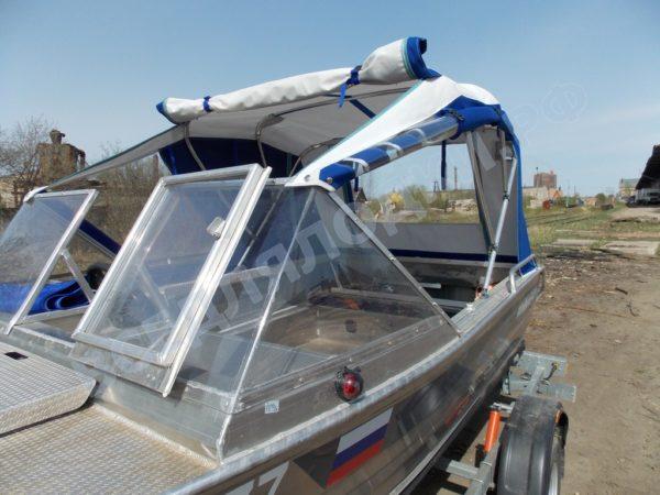 Windboat-42MPro / Виндбот-42МПро. Тент для стекла с калиткой. 16