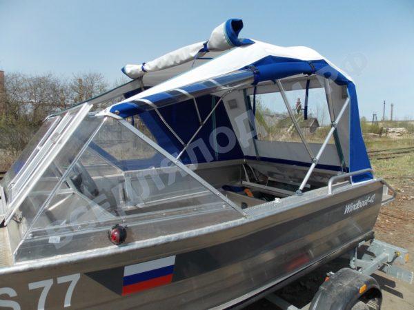 Windboat-42MPro / Виндбот-42МПро. Тент для стекла с калиткой. 17