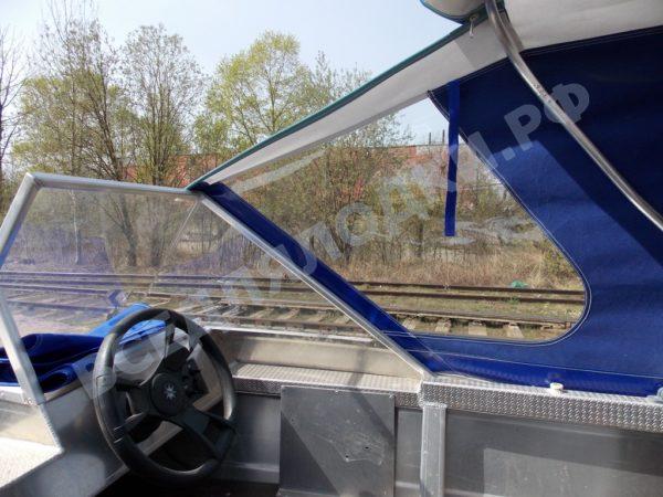 Windboat-42MPro / Виндбот-42МПро. Тент для стекла с калиткой. 20