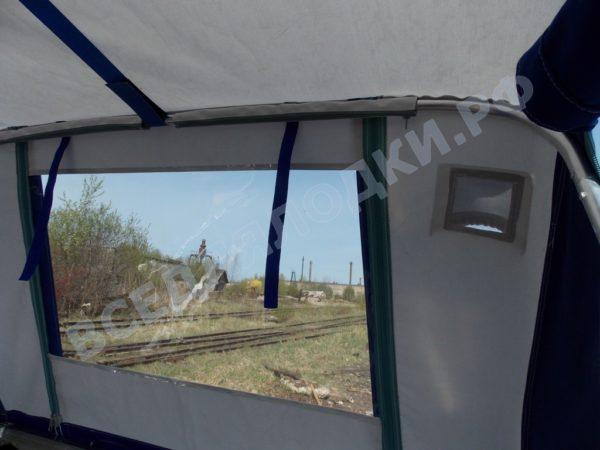 Windboat-42MPro / Виндбот-42МПро. Тент для стекла с калиткой. 21