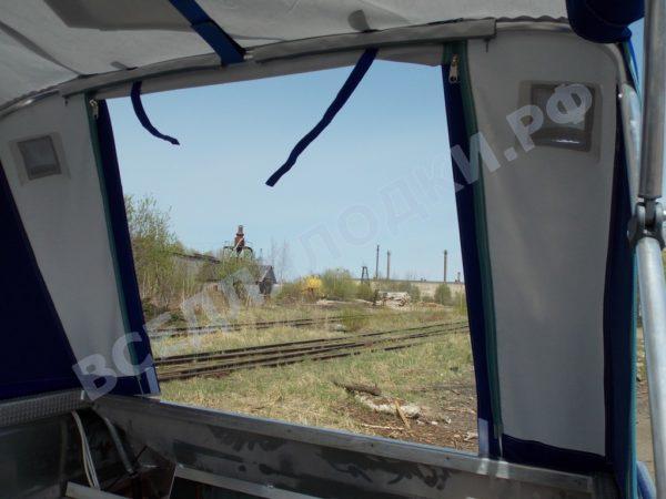 Windboat-42MPro / Виндбот-42МПро. Тент для стекла с калиткой. 25