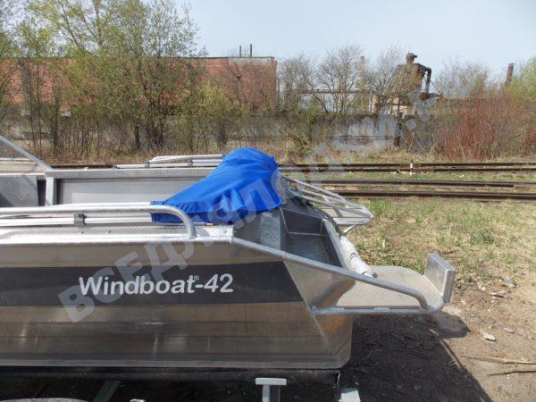 Windboat-42MPro / Виндбот-42МПро. Тент для стекла с калиткой. 26