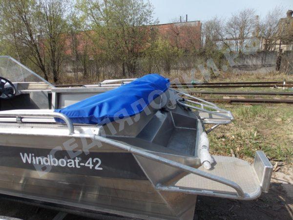Windboat-42MPro / Виндбот-42МПро. Тент для стекла с калиткой. 27