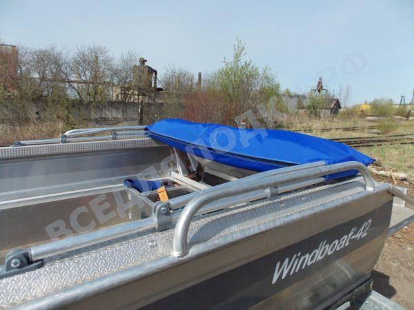 Windboat-42MPro / Виндбот-42МПро. Тент для стекла с калиткой. 28
