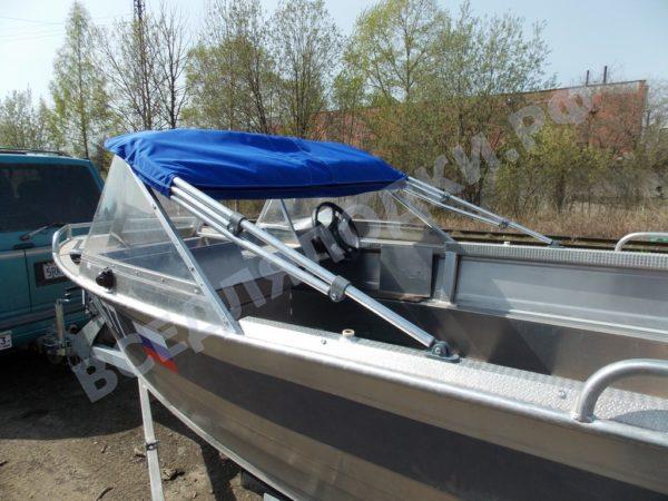 Windboat-42MPro / Виндбот-42МПро. Тент для стекла с калиткой. 29