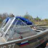 Windboat-42MPro / Виндбот-42МПро. Тент для стекла с калиткой. 65