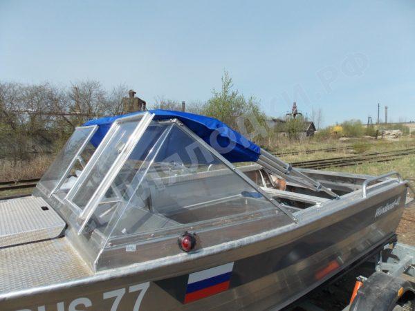 Windboat-42MPro / Виндбот-42МПро. Тент для стекла с калиткой. 30